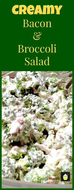 This delicious recipe has been generously shared by one of our great cooks, Carina. She's always coming up with great recipes, and here we have Carina's Creamy Bacon & Broccoli Salad. No Carb Recipes, Side Dish Recipes, Great Recipes, Cooking Recipes, Favorite Recipes, Healthy Recipes, Side Dishes, Summer Recipes, Salad Recipes