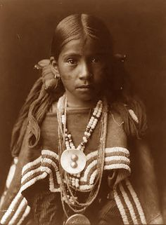 """american indians pictures - Bing Images  Apache Indian Maiden. The photo is by Curtis, and was taken in 1905. Curtis captioned the image, """"A Jicarilla girl in feast dress"""".  The girl is about 14 years old."""
