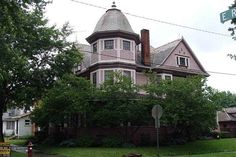 Stately Victorian style with so much charm. Well over home featuring natural woodwork thought out. Step back in time once you walk through the… Cherry Cabinets, Victorian Architecture, Old House Dreams, Old Buildings, Historic Homes, Queen Anne, Victorian Homes, Old Houses, Beautiful Homes