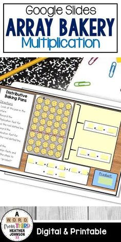 Aug 17, 2020 - Welcome to The Array Bakery! This activity pack includes7 hands-on, arrays activities for students help reinforce arrays, the commutative property, the distributive property, fact families, and problem solving. Great hands on/engaging support for programs like Engage NY and Eureka Math. ***NOW INC... Multiplication Activities, Math Activities, Math Strategies, Math Resources, Math Stations, Math Centers, Third Grade Math, Fourth Grade, Commutative Property