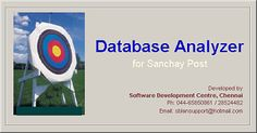 DBAnalyzer for Sanchay Post dated 30/08/2013 with Updater | PO TOOLS