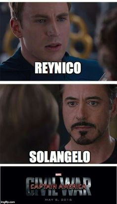 PRETTY MUCH<<<<<I'm with Tony on this. Though I shipped Reynico before I learned nicos secret<<<<Yes....I hope they will be like, BFFs or something>>>>> REYNICO FTW!!!!!!!!!!!!! Team Cap through and through!!!<<<SOLANGELO BITCHES FIGHT ME<<<<I'm with Tonyyyy as usual