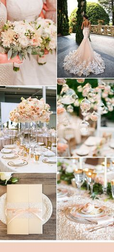 peach and gold glamorous wedding ideas