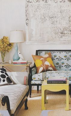 lamp, fabric, coffee table, J´adore!!
