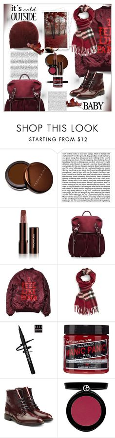 """Beanies ..."" by dragananovcic ❤ liked on Polyvore featuring Fashion Fair, PBteen, Hourglass Cosmetics, M Z Wallace, Burberry, Manic Panic NYC, Dsquared2, Giorgio Armani and Armani Jeans"