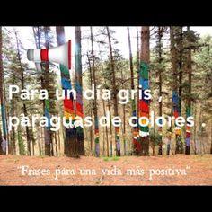 """""""Frases para una vida mas positiva"""": PARA UN DÍA GRIS, PARAGUAS DE COLORES"""