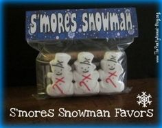 S'mores Snowman Kit - Christmas Party Favors ♥