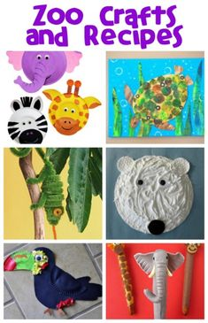 Animal Crafts and Recipes Have some fun creating your own zoo animal crafts to remember your family trips to the zoo!Have some fun creating your own zoo animal crafts to remember your family trips to the zoo! Zoo Animal Crafts, Zoo Crafts, Animal Projects, Camping Crafts, Camping Theme, Baby Crafts, Preschool Zoo Theme, Preschool Projects, Preschool Activities