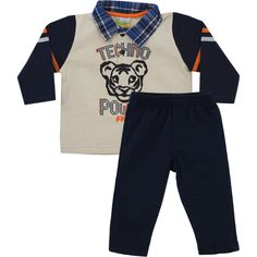 Conjunto Infantil Masculino Pólo Bege - Jaca-Lelé :: 764 Kids | Roupa bebê e infantil