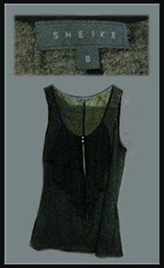 Sheike #Grey frilled Zip-up. Size: 8, $10. FOR SALE #fashion #shop #sale #designer #apparel #special Shop Sale, Formal Prom, No Frills, Zip Ups, Grey, Shopping, Tops, Design, Women