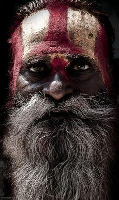 Portrait of a sadhu, by Elvira Vila