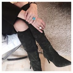 You may be looking at the boots...but we  would like to turn your attention to our Celestial Collection Rings! Simple elegance that matches with any color, day or night.
