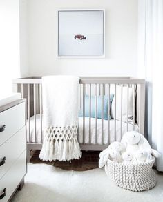 34 Gender Neutral Nursery Design Ideas That Excite - DigsDigs Baby Bedroom, Baby Boy Rooms, Baby Room Decor, Baby Boy Nurseries, Kids Bedroom, Nursery Decor, Grey Nursery Furniture, Small Nurseries, Modern Nurseries