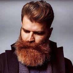 Just a selection of hot, hairy men with a preference for good short barbershop haircuts. Crazy Beard, Epic Beard, Brown Beard, Red Beard, Walrus Mustache, Beard No Mustache, Long Beard Styles, Hair And Beard Styles, Ginger Men