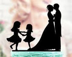 Family Wedding Cake Topper Grooms Two Little Girls, Bride and Groom Cake Topper, Bride and Groom Cake Topper Kids, Cake Toppers Fall Birthday Cakes, Mothers Day Drawings, Kids Silhouette, Silhouette Cake, Family Cake, Bride And Groom Cake Toppers, Cool Wedding Cakes, Wedding With Kids, Wedding Ideas