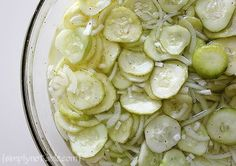 """Great Grandma Bonnie's"" Freezer Pickles Recipe"