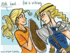 Percy Jackson + How To Train Your Dragon Annabeth Chase Astrid fan art | http://shanlightyear.tumblr.com