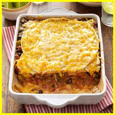 Beef Taco Lasagna Recipe Taste Of Home. Italian Sausage Lasagna Will Cook For Smiles. Home and Family Best Chicken Enchilada Recipe, Creamy Chicken Enchiladas, Enchilada Recipes, Chicken Recipes, Enchilada Casserole, Chicken Casserole, Shrimp Recipes, Casserole Recipes, Taco Lasagne