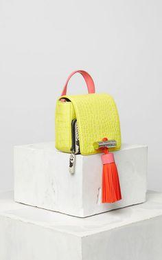 LEMON Mini Sailor Bag Colourblock for women @KENZO Leather Bag Pattern, Transparent Bag, Beautiful Handbags, Leather Bags Handmade, Mini Bag, Fashion Bags, Bag Accessories, Clutches, Purses And Bags
