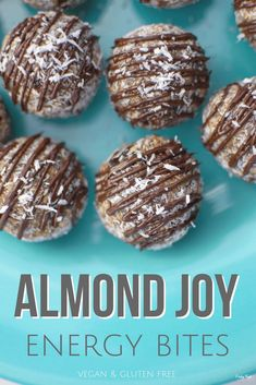 These Almond Joy Energy Bites combine the nutritious goodness of oatmeal, dates,. - These Almond Joy Energy Bites combine the nutritious goodness of oatmeal, dates, and almonds with t - Healthy Protein Snacks, Protein Bites, Healthy Nutrition, Healthy Energy Bites, Protein Cake, Protein Muffins, Protein Cookies, Healthy Breakfasts, Protein Foods