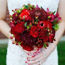 dark red wedding