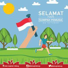 Poster Hari Sumpah Pemuda Kelas Inspirasi Malang 3 @dehafro Works