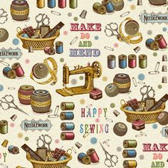 Happy Sewing Fabric