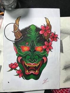 Hannya Mask Tattoo, Hanya Tattoo, Arm Tattoo, Body Art Tattoos, Tattoo Drawings, Japanese Demon Tattoo, Bio Organic Tattoo, Nature Iphone Wallpaper, Japanese Mask