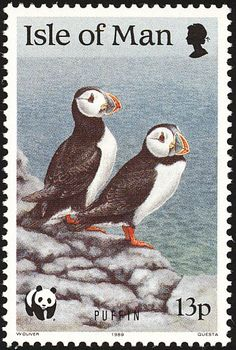 Atlantic Puffin stamps - mainly images - gallery format