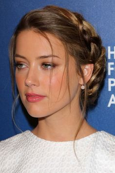 braided side bun hairstyle