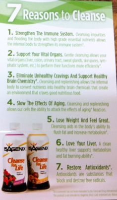why you should cleanse using isagenix!! For more information please email me: experiencemylife@iinet.net.au