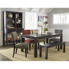 Rustic Black Dining Room Set