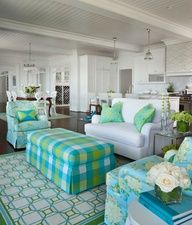 Love the white with pop of color