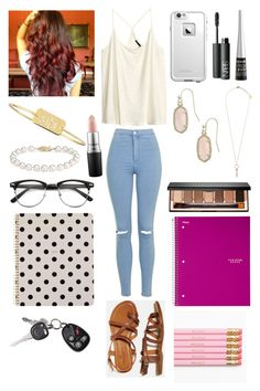"""""""I don't think I'm ready for highschool just yet I'm kinda scared """" by one-of-those-nights ❤ liked on Polyvore featuring H&M, Topshop, LifeProof, NARS Cosmetics, Wet n Wild, American Eagle Outfitters, Sarah Chloe, Blue Nile, Kendra Scott and Bobbi Brown Cosmetics"""