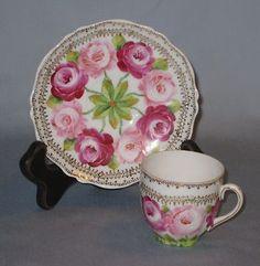 Royal Demitasse Cup and Saucer w Pretty Roses Vintage Austria 1930s Espresso | eBay