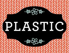 PLASTIC Magnet Label for recycling by RichardCreative on Etsy, $4.95