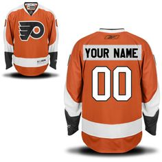 Reebok Philadelphia Flyers Men's Premier Home Custom Jersey - Orange - $159.99