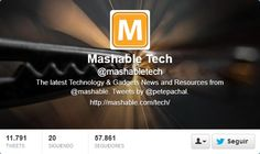 Fotos Twitter de portadas de Mashable Tech