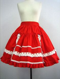 CORNET (unknown name?) skirt, red. :3