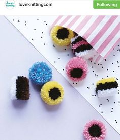 Liquorice all sort Pom poms!