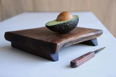 Walnut Serving Tray Footed Platte Cutting Board Rustic Wood Cheese Board Organic Wedding Gift. $56.00, via Etsy.
