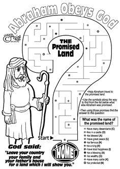 Abraham Obeys God Maze