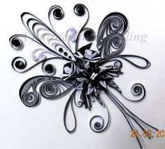 paper quilling by chris freville   This is a combination of graphic paisley design quilling and 3d ...
