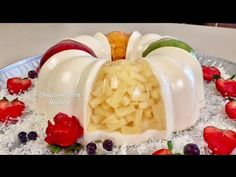 Gelatina Con Frutas Encapsuladas y Yogurt Natural - YouTube