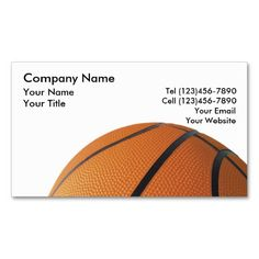 Basketball Business Cards