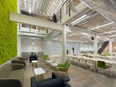 It's no secret that San Francisco tech companies are full of fun, flashy furniture. (We've seen some of it in the Office Space series.) Furniture company Two shared some of the top trends requested by their clients. We'll start with green or living walls, seen here at Zendesk. Photo: Bruce Damonte, Design: Design Blitz / All rights reserved.