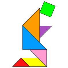 Tangram Prayer - Tangram solution #65 - Providing teachers and pupils with tangram puzzle activities