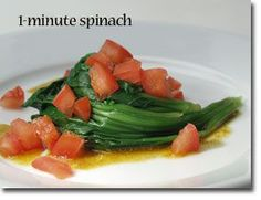 1-Minute Spinach Enjoy this quick and easy addition to your Healthiest Way of Eating that provides you with an excellent source of healthy p...