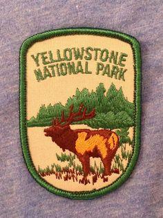 Yellowstone National Park Vintage Souvenir by HeydayRoadTrip