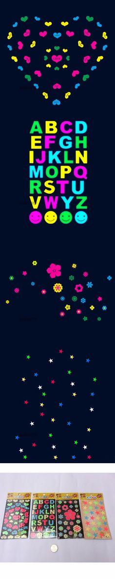 Glow in the Dark Heart Flower Letter Wall Door Ceiling Sticker Decal Kid Bedroom 070-141
